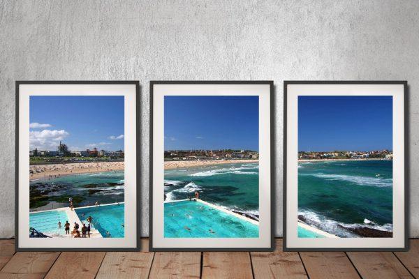 Buy Bondi Icebergs Affordable 3-Panel Art