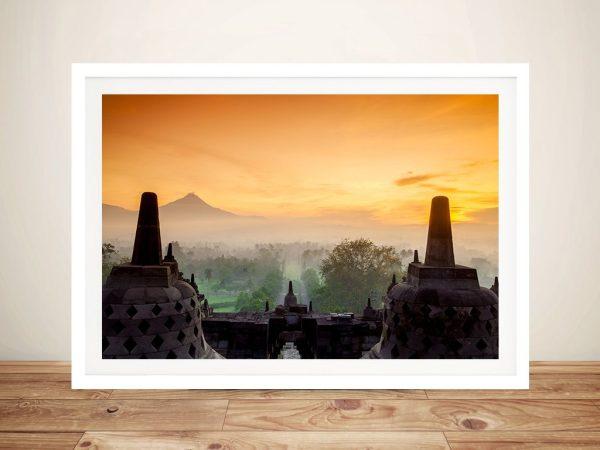 Buy a Borobudur Temple in Java Canvas Print