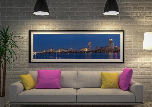 Buy a Boston Skyline at Dusk Panoramic Print