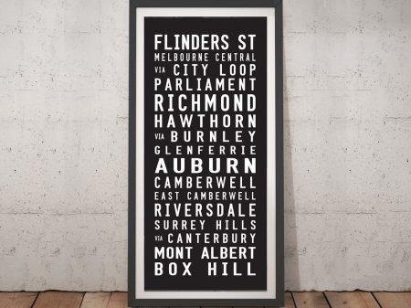 Flinders Street Box Hill Tram Scroll