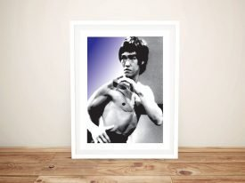 Framed Bruce Lee Pop Art on Canvas