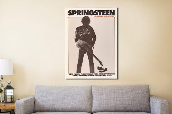 Bruce Springsteen Concert Poster Canvas Print