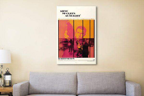 Bullitt Movie Poster Canvas Brisbane