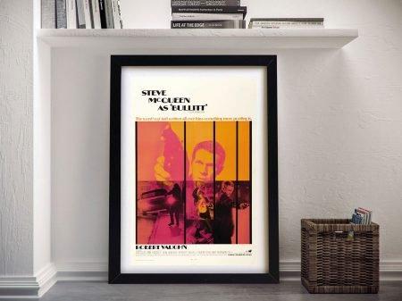 Bullitt Poster Framed Wall Art
