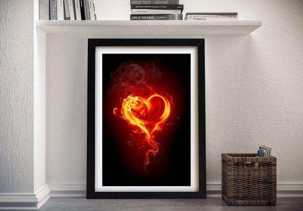 Buy a Framed Canvas Print of Burning Heart