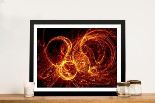 Burning Night Framed Canvas Art