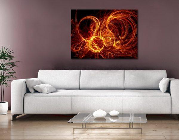 Buy Burning Night Cheap Abstract Artwork AU