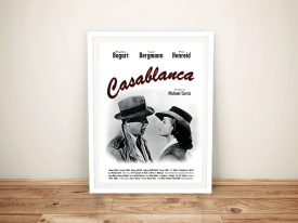 Casablanca Movie Poster Framed Wall Art