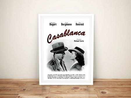 Casablanca Movie Poster Framed Wall Art