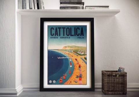 Buy an Italian Riviera Vintage Travel Poster