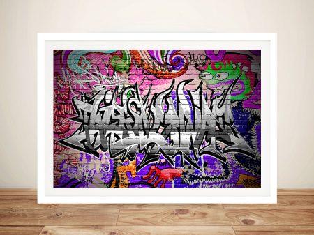 Caught Red handed Graffiti Framed Wall Art