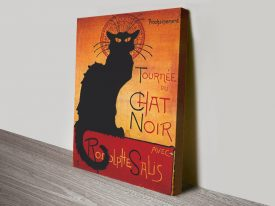 Chat Noir Canvas Poster on Canvas