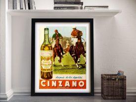 Buy Asti Cinzano Polo Advertising Artwork