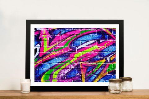 Buy Colour Slashes Framed Street Art