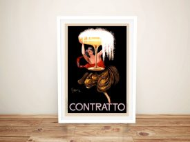 Buy a Contratto Vintage Alcohol Poster Print