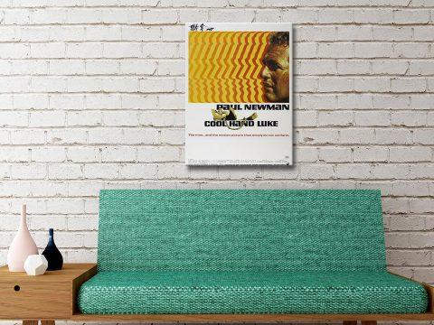 Cool Hand Luke Movie Poster Canvas Artwork