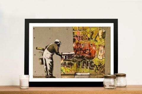 Affordable Framed Banksy Prints on Canvas