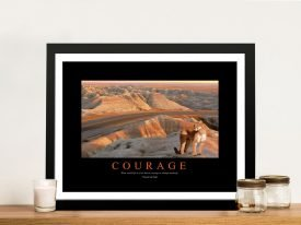 Courage Framed Motivational Artwork