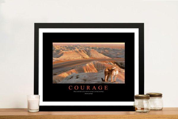 Courage Framed Motivational Artwork