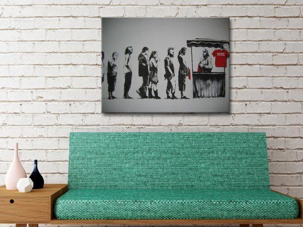 Banksy Destroy Capitalism Canvas Artwork Australia