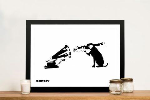 Buy a Banksy Dog HMV Canvas Print