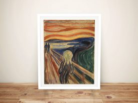 Edvard Munch The Scream Framed Wall Art Painting Australia