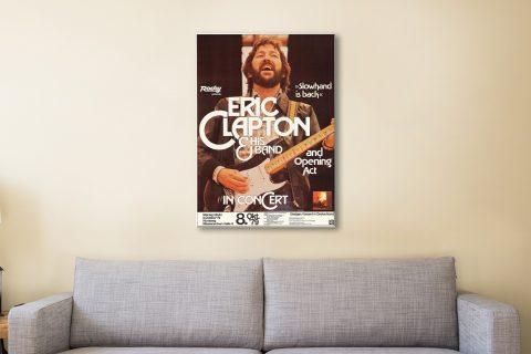 Eric Clapton Concert Poster Canvas Artwork