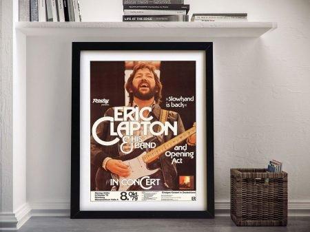 Eric Clapton Concert Poster Framed Art