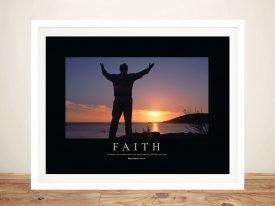 Faith Motivational Canvas Art Print