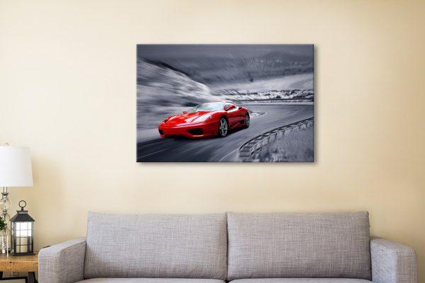 Buy Ferrari F430 Canvas Artwork