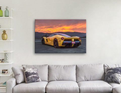 Ferrari Sunset Wall Art Online