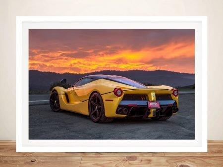 Ferrari sunset Canvas Print