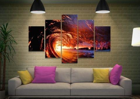 Affordable Split Panel Surfscape Art Online