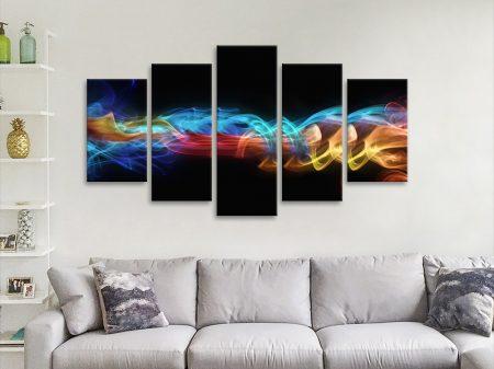 Fire & Ice Split Diamond Wall Art