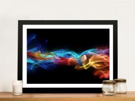Fire & Ice Flames Abstract Canvas Wall Art