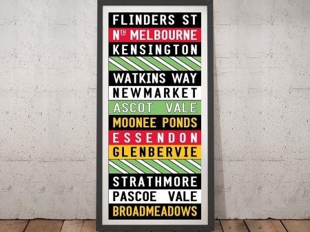 Flinders Street Melbourne Tram Sign Art
