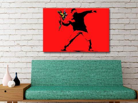 Flower Thrower Banksy Artwork Gift Ideas Online