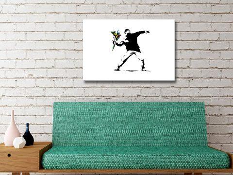 Flower Thrower Banksy Canvas