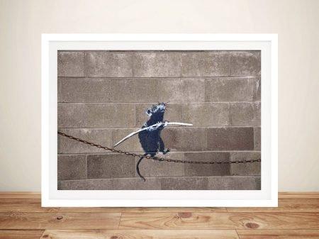 Buy Funambulist Rat Canvas Art by Banksy