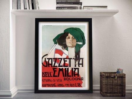 Buy a Gazetta Dell Emilia Vintage Poster Print