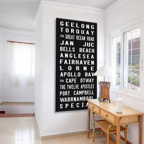 Geelong Tram Banner Canvas Artwork