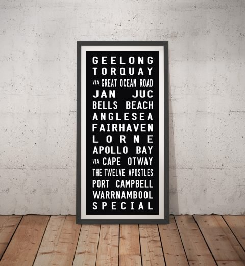 Geelong Tram Scroll Canvas Word Art Australia