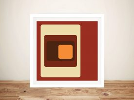 Geometric Art Framed Wall Picture Decor