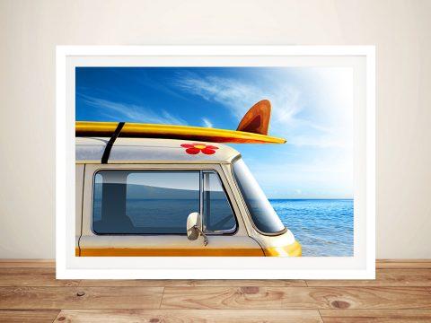 Surf Trip VW Van Surfing Wall Art Prints Brisbane Australia