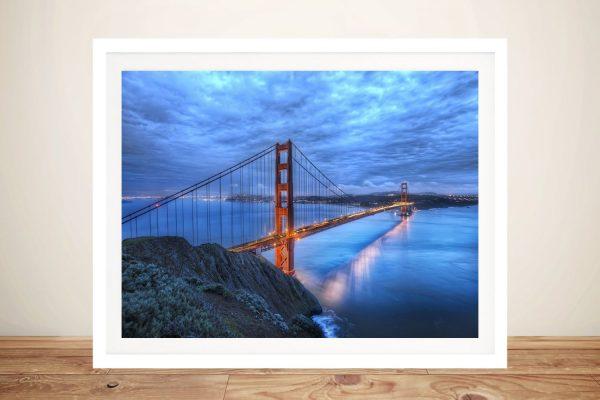 Golden Gate Bridge Framed Landscape Art