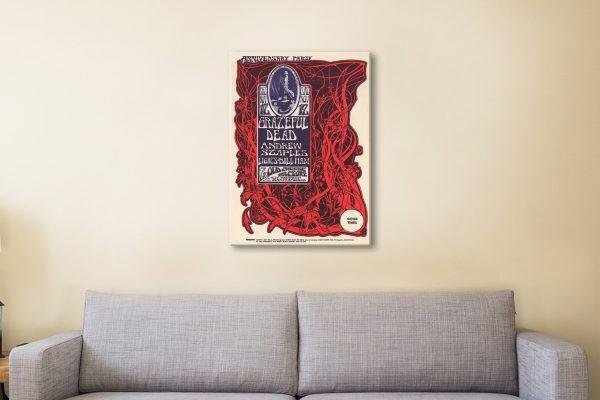 Grateful Dead Poster 5 Canvas Artwork