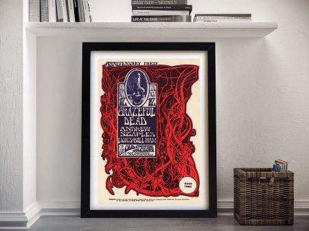 Grateful Dead Poster 5 Framed Wall Art