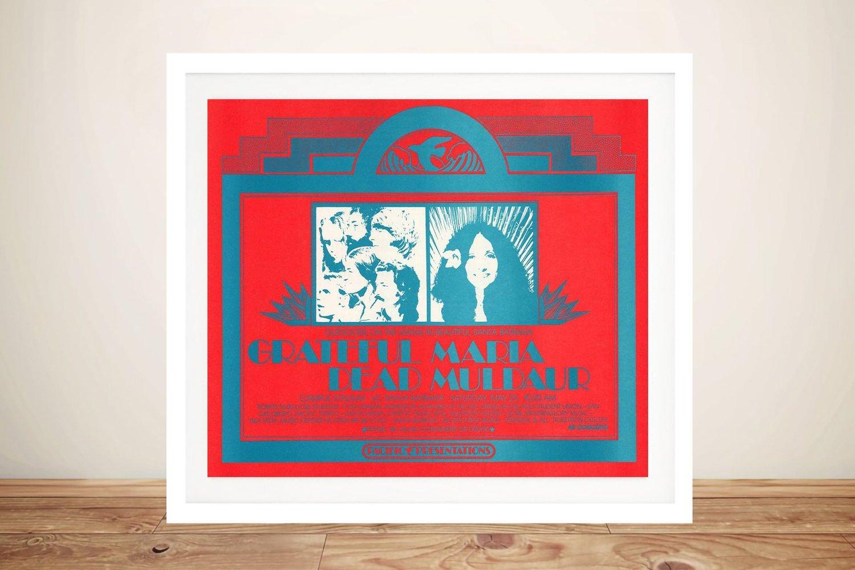 Grateful Dead Santa Barbara Poster Framed Wall Art