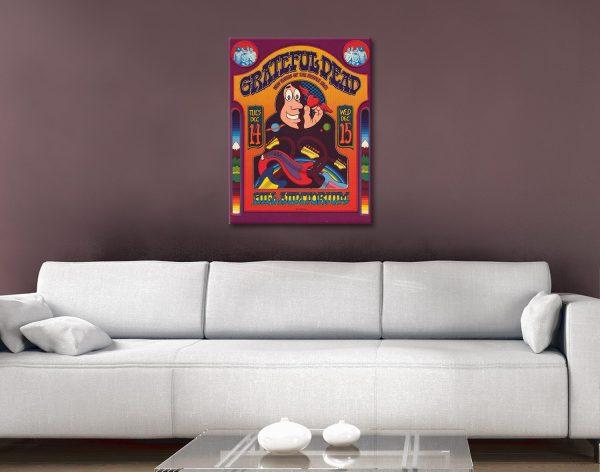 Grateful Dead Poster Canvas Artwork