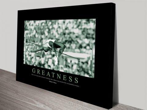 Greatness Motivational Canvas Wall Art